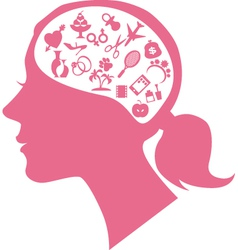 Female mind vector