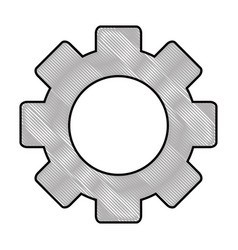 Gear machinery piece vector