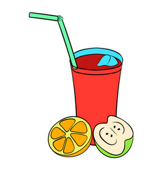 glass of sangria icon cartoon vector image vector image