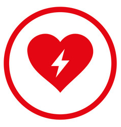 heart power rounded icon vector image