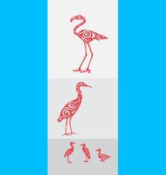 Heron set vector image