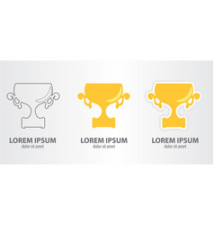icon of the cup vector image