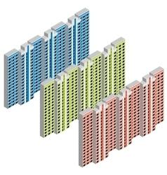 Isometric residential house vector