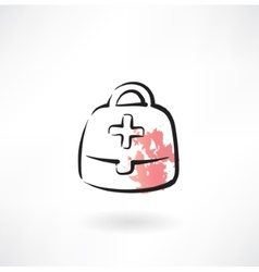 medicine chest grunge icon vector image