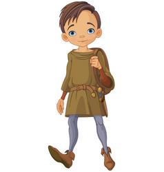 medieval boy vector image