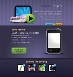 mobile stuff website template vector image vector image