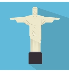 monument jesus statue rio janeiro vector image vector image