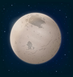 moon charon in space vector image