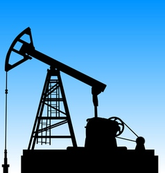 Oil pump jack Oil industry equipment vector image vector image