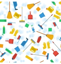Seamless pattern of cleaning items vector image vector image