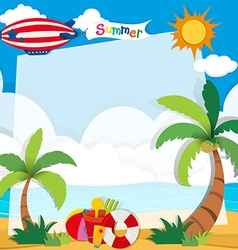Summer time on the beach vector image