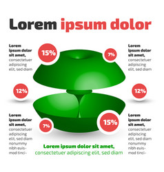 three dimensional circle shape infographic vector image vector image