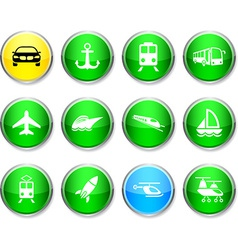 Transport round icons vector image vector image