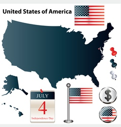 USA flag small vector image vector image