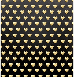 Valentines Day Pattern with Golden Hearts vector image vector image