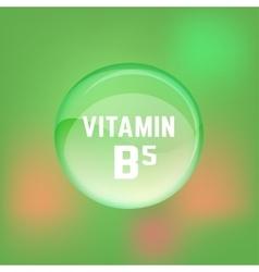 Vitamin B5 02 A vector image vector image