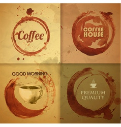 Watercolor vintage coffee stain background vector
