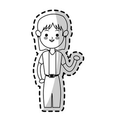 woman cute cartoon icon image vector image vector image