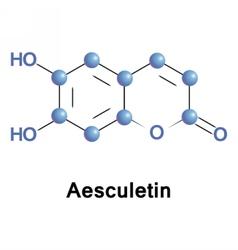Aesculetin derivative of coumarin vector image