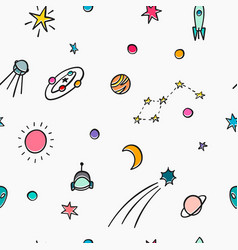 Cosmos astronomy simple seamless pattern vector