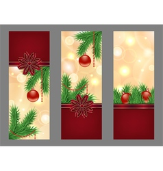 Christmas golden flyers vector