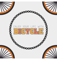 Bike design vector