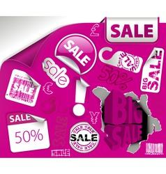 sale labels vector image