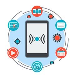 Mobile services concept vector