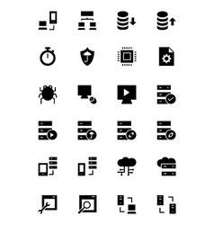 Database and server icons 4 vector