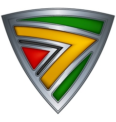 Steel shield with flag guyana vector