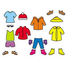 childrens clothes collection vector image