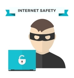 Internet security data privacy vector
