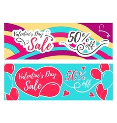 Valentines day sale promo store vector