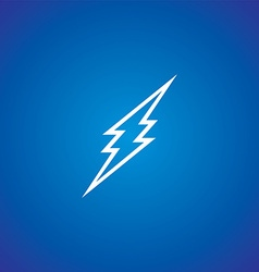 Thunder storm sign vector