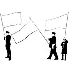 flag bearer silhouettes vector image