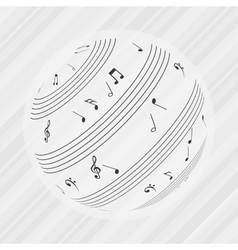 Musical icon design vector