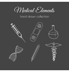 Hand drawn medical  doodle healthcare vector