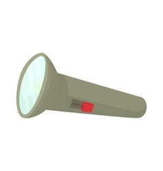 Flashlight icon cartoon style vector