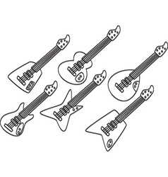 Artistic guitar design vector