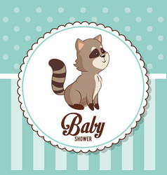 Baby shower card invitation decorative ornament vector