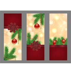 christmas golden flyers vector image vector image