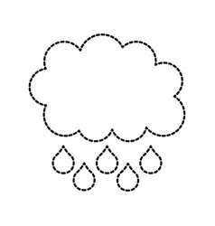 cloud rain drop weather climate icon vector image
