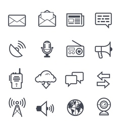 Communication Icon Bold Stroke vector image vector image