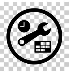 Date and time setup rounded icon vector