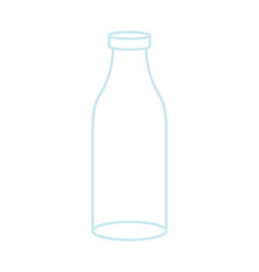 empty glass bottle isolated transparent flask on vector image