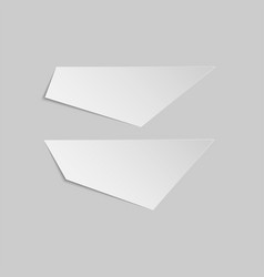 empty paper pieces banner templates set vector image vector image