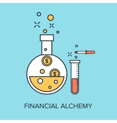 Financial Alchemy vector image
