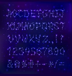 font space constellation alphabet typeface script vector image