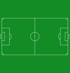 football field scheme vector image vector image