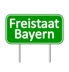Freistaat bayern road sign vector